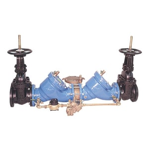 Watts Cast Iron Reduced Pressure Zone Double Check Detector Assembly Outside Stem and Yoke Gate Valve W909RPDAOSYGPM