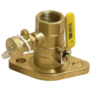 Watts Brass NPT Purge Port Ball Valve WPIPFT