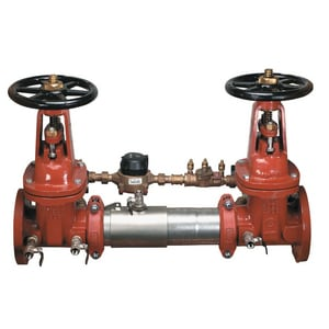 Watts Flanged x Grooved Stainless Steel Cross Hand Wheel Handle Backflow Preventer W757DCDAOSYCFM