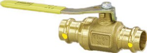 ProPress® Bronze Press Ball Valve with Gas Metal Handle V196