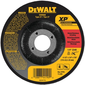 Dewalt 7/8 x 1/4 in. Grinding Wheel DDW8808