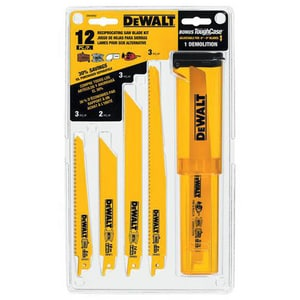 Dewalt Bimetal Reciprocating Saw Blade Set with Telescoping Case DDW4892