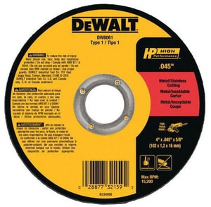 Dewalt Metal & Stainless Steel Cutting Wheel DDW8726