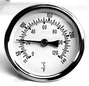 Westwood Products 1/4 in. Angle Thermal Pressure Gauge WH2590