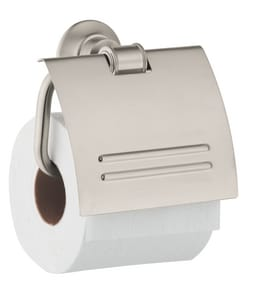 AXOR Montreux 5-1/8 in. Wall Mount Toilet Tissue Holder in Brushed Nickel AX42036820