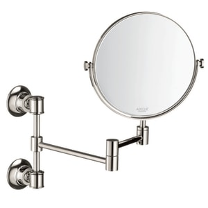 AXOR Montreux 12-3/8 x 7-3/4 in. Double Sided Round Mirror in Polished Nickel AX42090830