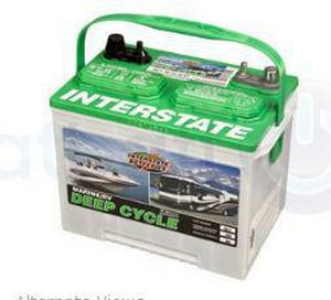Interstate Batteries Deep Cycle cranking Marine Battery ISRM24