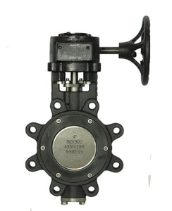 Milwaukee Valve 12 in. 150 psi Carbon Steel HP Lug Butterfly Valve Gear Operator MHP1LCS421312