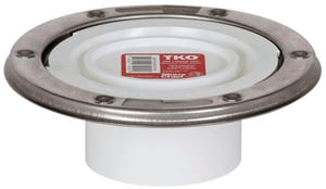 Sioux Chief TKO™ 4 x 3 PVC Tko Closet Flange With Stainless Steel Ring S886PTMS