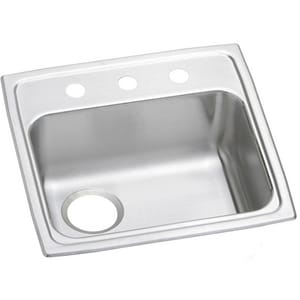 Elkay Gourmet Pacemaker® 19-1/2 x 19 in. Single Bowl Top Mount Quick-Clip Sink EPSRADQ191955L3