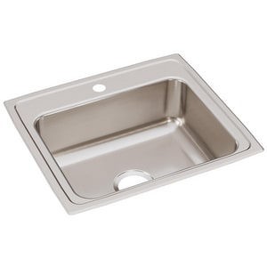 Elkay Gourmet Lustertone® 22 x 19-1/2 in. Single Bowl Top Mount Sink ELR2219