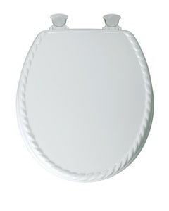 Mayfair Wood Round Closed Front Toilet Seat B23EC000
