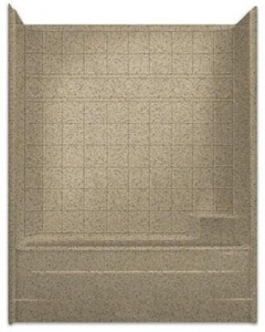 Aquarius Industries Millennia Collection 60 x 32 in. Left-Hand Millenia Tub and Shower Tile in White AM6032TSLWH