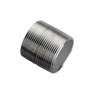 Merit Brass 3/8 in. Close MNPT Schedule 40 304L Stainless Steel Threaded Both End Seamless Nipple DS44SNCL