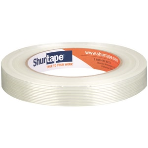 Shurtape GS 501 3/4 in. 60 yd. Plastic and Rubber Strapping Tape in White SGS501F60WH