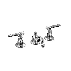 Kohler Antique™ 3-Hole Double Lever Handle Widespread Lavatory Faucet K108-4