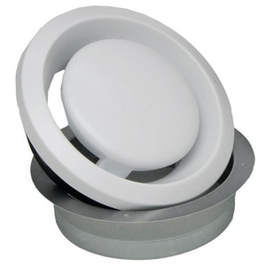 S&P USA Ventilation 4 in. Plastic Adjustable Air Value Grill SBOR100