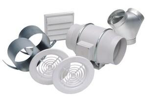 S&P USA Ventilation 6 in. Dual Exhaust Bathroom Kit SKITTD150DV