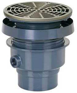 Sioux Chief Finish Line™ 6- 1/2 in. Diameter Top Complete Assembly Round Adjustable Floor Drain SCH40 Hub Connection S83236PNR