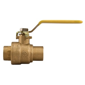 Watts Series FBVS-3C 600 psi 2-Piece Sweat Brass Full Port Ball Valve with PTFE Seat WFBVS3C