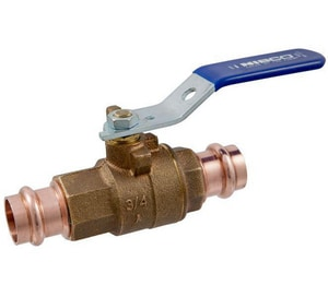 Nibco 1 in. 250# Bronze Press Female End 2-Piece Full Port Blowout-Proof Stem Ball Valve NPC58570G