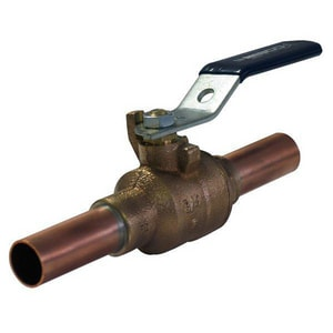 Nibco 2-Piece Male Bronze Full Port Ball Valve with Lever Handle NPS5857066