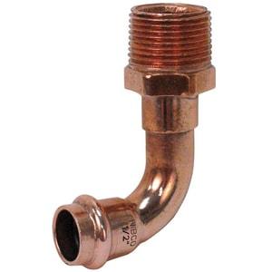 Nibco Press x MPT Copper Straight 90 Degree Elbow NPC6074LD