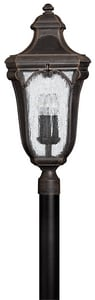 Hinkley Lighting 26W 120V Candelabra Post Mount Lantern in Mocha H1311MO