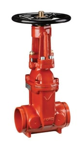 Victaulic Style 771 Ductile Iron Grooved Outside Stem and Yoke Gate Valve VV771P01