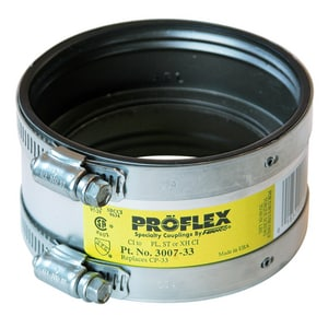 Fernco Proflex® Cast Iron or Plastic x Copper Flexible Coupling F300733