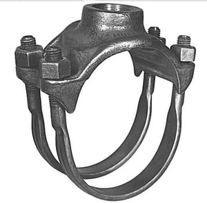 Mueller Industries 6 in. CC Bronze Double Strap Saddle MBR2B0684CC