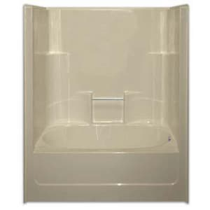 Aquarius Industries Luxury 60 x 43-1/4 in. Tub and Shower with Left Hand Drain in White AG6042LWH