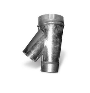 Lukjan Metal Products 4 in. x 5 in. x 3 in. 26 ga Galvanized Steel Flue Wye SHMYFSPM