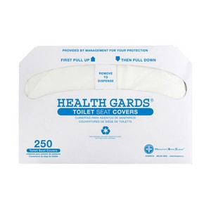 Hospital Specialty Company Health Gards® 2500-Count Toilet Seat Cover in White HHG2500