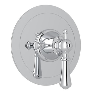 Rohl Perrin & Rowe® Single Metal Lever Handle Concealed Thermostatic Trim Set Round Face Plate RU5785LSTO
