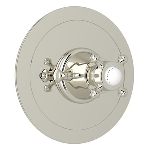 Rohl Perrin & Rowe® Single Cross Handle Round Thermostatic Trim Plate RU5786XTO