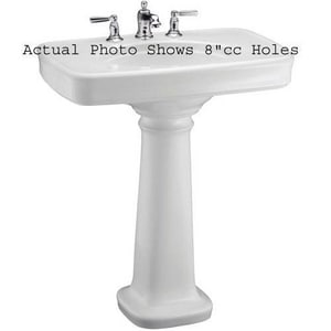 Kohler Bancroft® 3-Hole Pedestal Lavatory Sink with P-Trap K2347-8