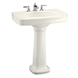Kohler Bancroft® 3-Hole Pedestal Lavatory Sink with P-Trap K2347-8