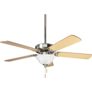 Progress Lighting AirPro 52 in. 5-Blade Fan with Light in Brushed Nickel PP252209