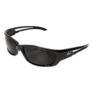 Edge Eyewear Kazbek XL Safety Glasses with Black Frame & Smoke Lens WSKXL116