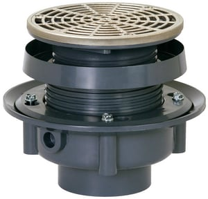 Sioux Chief Finish Line™ Adjustable Flashing Drain SCH40 Hub Connection 6- 1/2 in. Complete Assembly S833PNR