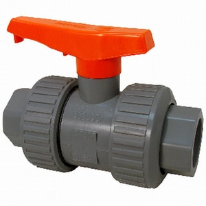 Chemtrol 250 psi Full Port PVC True Union Ball Valve with EPDM seat CU45TBE