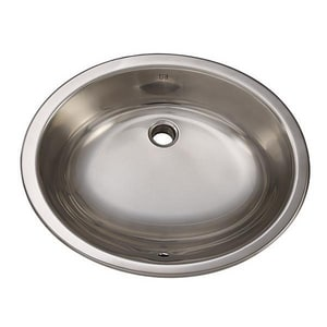 DECOLAV® Simply Stainless™ 19-1/4 x 16-1/4 in. Oval Stainless Steel Lavatory D1300