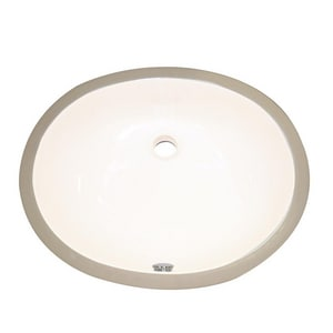 DECOLAV® Classically Redefined™ 17 x 14 in. Oval Vitreous China Undermount Lavatory with Overflow D1401C