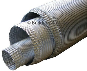 Builder's Best 8 ft. V230 Aluminum Non-Insulated Flexible Pipe B01070
