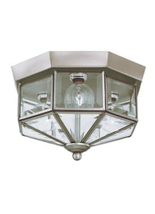 Seagull Lighting Grandover 25 W 3-Light Candelabra Flush Mount Close-to-Ceiling Fixture S7661