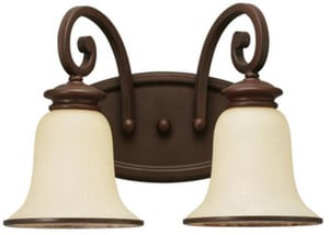 Seagull Lighting Acadia 8-1/4 in. 2-Light Bath Bar in Misted Bronze S44145814