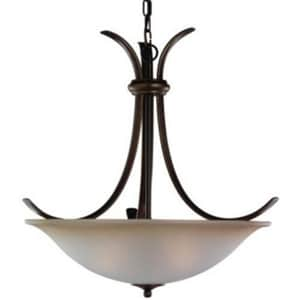 Seagull Lighting Rialto 100 W 3-Light UpLight Pendant in Russet Bronze S65361829