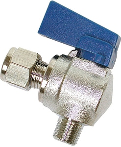 Dial 1/4 x 1/8 in. MPT Stainless Steel Angle Ball Valve D9443