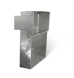 Lukjan Metal Products 12 x 6 x 3-1/4 x 12 in. Galvanized Head Stack SHMSH12U31412